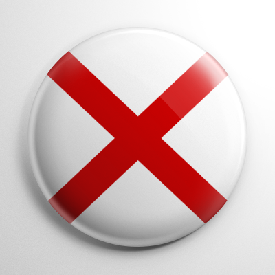 Nautical Flag V Button