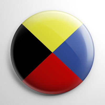Nautical Flag Z Button