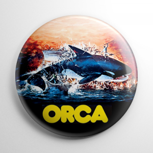 Orca The Killer Whale Button