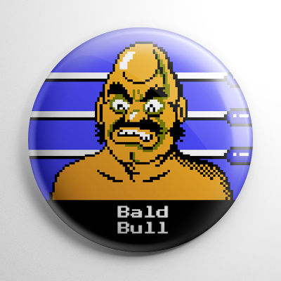 Punch Out - Bald Bull Button
