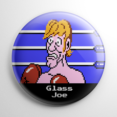 Punch Out - Glass Joe Button