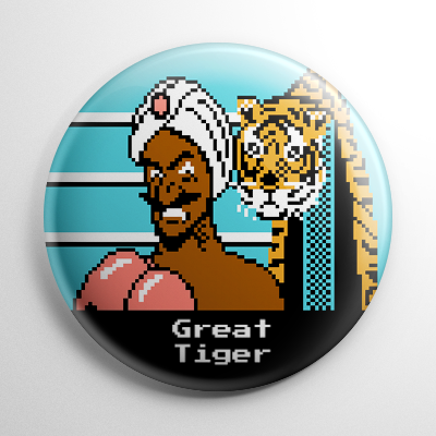 Punch Out - Great Tiger Button