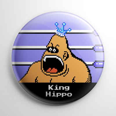 Punch Out – King Hippo Button