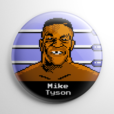 Punch Out – Mike Tyson Button
