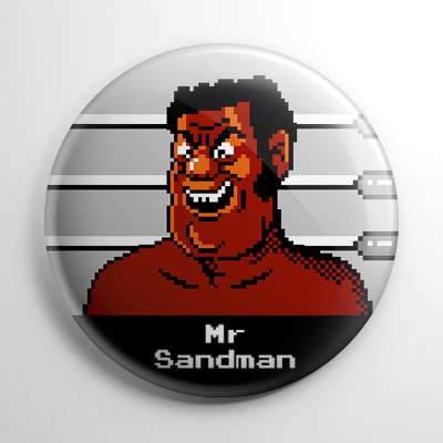 Punch Out - Mr Sandman Button