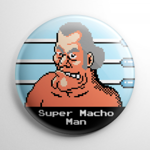Punch Out - Super Macho Man Button
