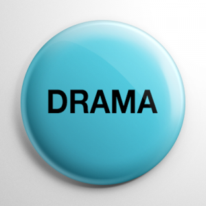 VHS Video Tape Drama Sticker Button
