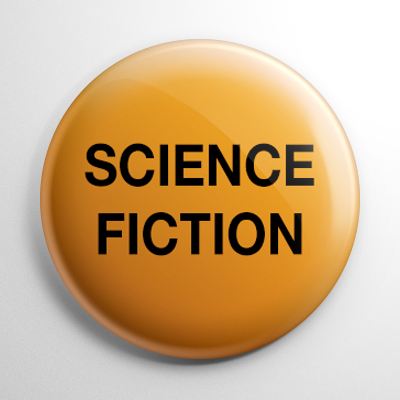 VHS Video Tape Science Fiction Sticker Button