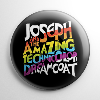 Joseph and the Amazing Technicolor Dream Coat Button