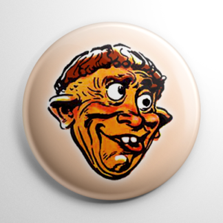 Vintage Halloween Mask Goof Button