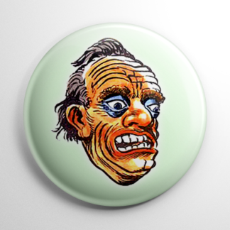 Vintage Halloween Mask Spazm Button