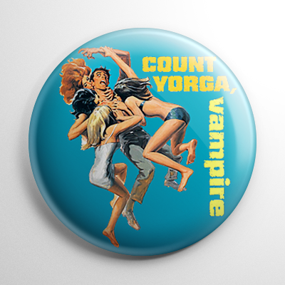 Count Yorga Vampire Button