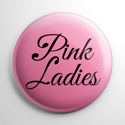 Grease Pink Ladies Button