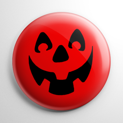 Vintage Halloween – Smiling Jack O' Lantern Button