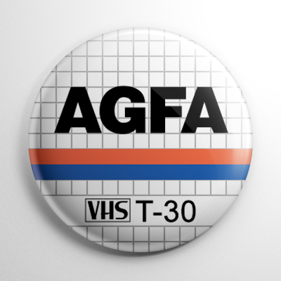 VHS Video Tape Label (F) Button