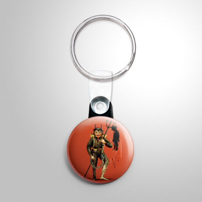 Christmas - Krampus with Child on a Trident Keychain