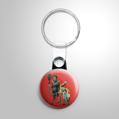 Christmas - Krampus with Line of Kids Keychain