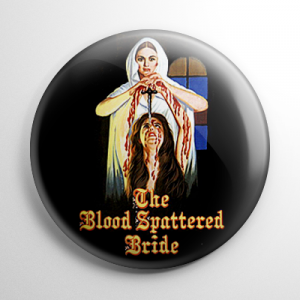 Blood Spattered Bride Button
