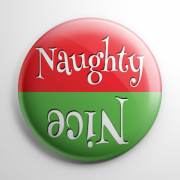 Christmas - Naughty or Nice Button