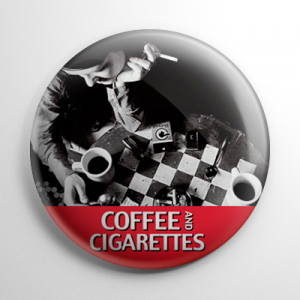 Coffee and Cigarettes Button