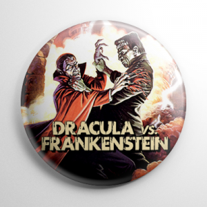 Dracula vs. Frankenstein Button