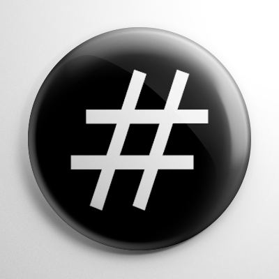 Hash Tag Button