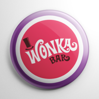 Willy Wonka & the Chocolate Factory Wonka Bar (F) Button