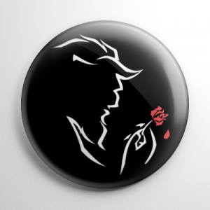 Beauty and the Beast (B) Button