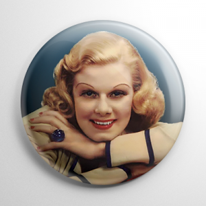 Jean Harlow Button