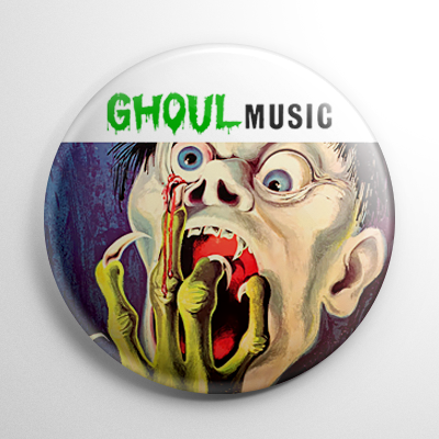 Vintage Halloween Record - Ghoul Music Button