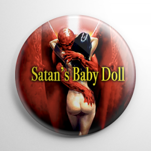 Satan's Baby Doll Button