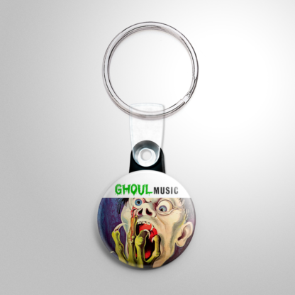 Halloween Record - Ghoul Music Keychain