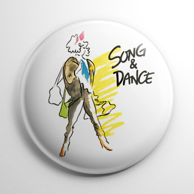 Broadway - Song and Dance Button