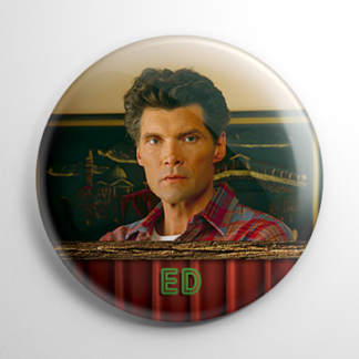 Twin Peaks Ed Hurley Button