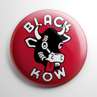 Vintage Bottle Cap - Black Kow Cola Button