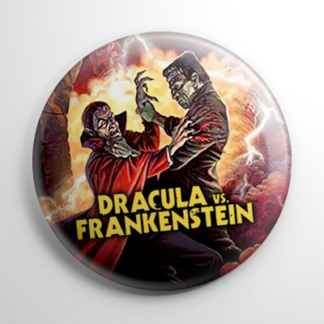 Horror - Dracula vs Frankenstein Button
