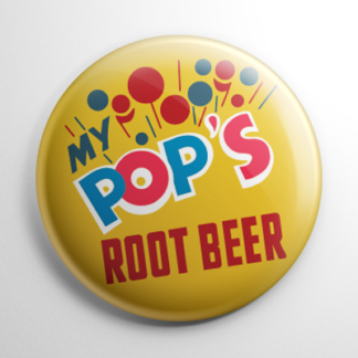 Vintage Bottle Cap My Pop's Root Beer Button