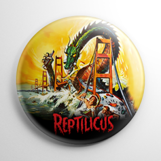 Horror - Reptilicus Button