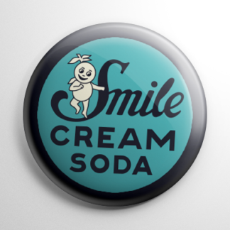 Vintage Bottle Cap Smile Cream Soda Button