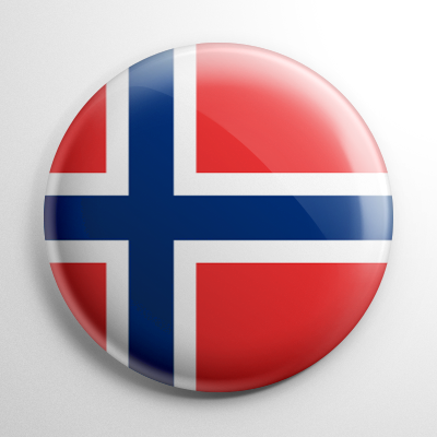 Flag - Norway Button