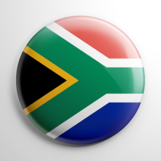 Flag - South Africa Button