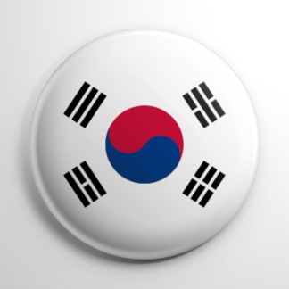 Flags - South Korea Button