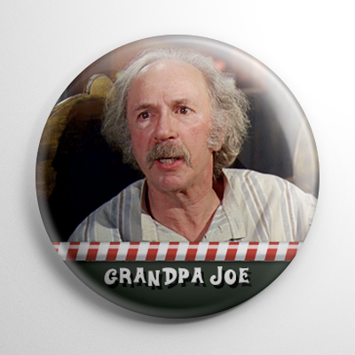 Willy Wonka - Grandpa Joe (A) Button