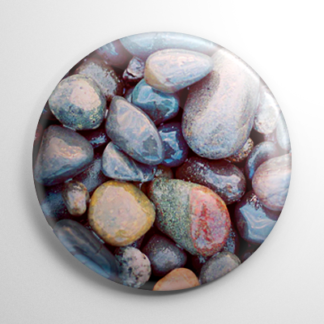 Nature - Pebbles Button
