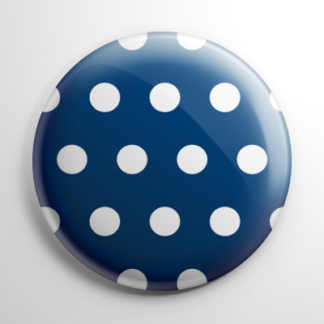 Novelty - Blue and White Polka Dots Button