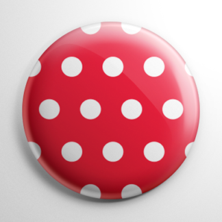 Novelty - Red and White Polka Dots Button