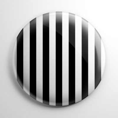 Novelty - Black and White Stripes Button