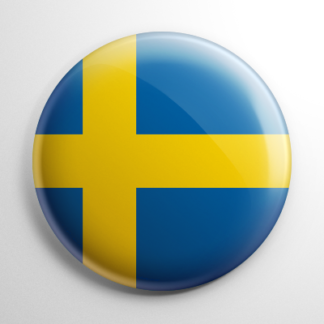Flag - Sweden Button