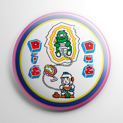 Video Games - Dig Dug Button