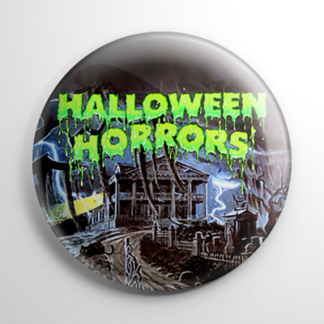 Vintage Halloween Record - Halloween Horror Button